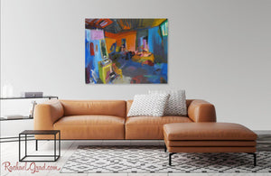 "New York Studio Interior Art Print | Colorful 10"" x 8"" Abstract Artwork 