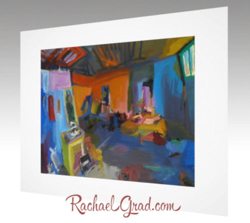 New York Studio Interior Art Print by artist Rachael Grad preview image