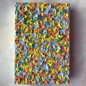 "Pastel Textures for Easter, 4"" x 6"" "" .8"" Painting by artist Rachael Grad"