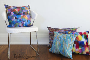 Colorful Art Pillows with Abstract Artwork by Toronto Artist Rachael Grad