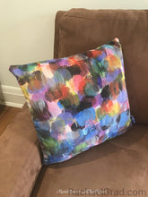 "Load image into Gallery viewer,  Colorful Pillows Art Pillow Covers Decorative Dot Series Pillow 1 Purple Blue-18"" x 18"" Pillow Case-rachaelgrad-rachaelgrad artsy abstract colorful artwork multicolor"