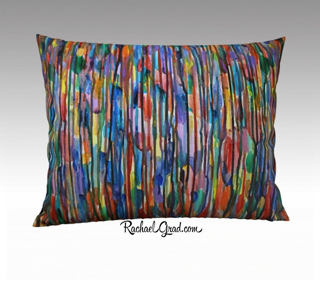 Striped Pillowcase, Multicolor Lines Bright Colours 26