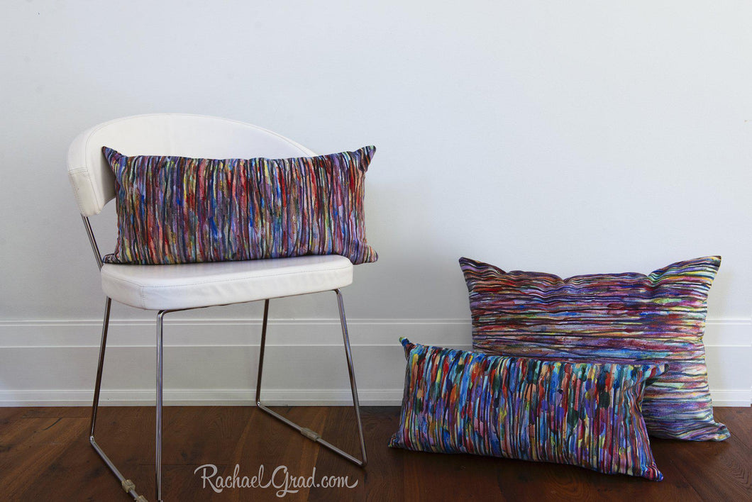 Group of 3 Abstract Art Pillows, Line Art Pillowcases by Toronto Artist Rachael Grad