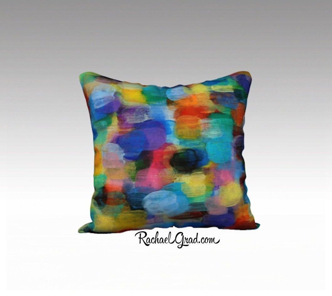 Turquoise Yellow Pillow Bright Colors, Art Pillows 18