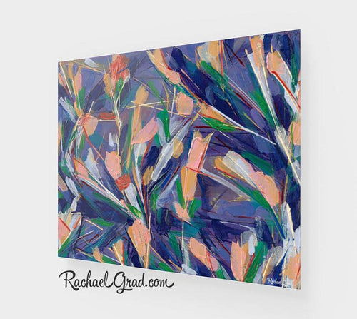 Abstract Flowers Art Print by Toronto Artist Rachael Grad