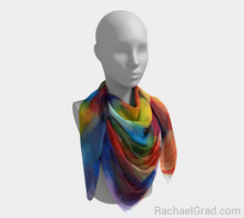 Load image into Gallery viewer, Dot Series 8 Square Scarf Multicolor-Square Scarf-rachaelgrad-rachaelgrad artsy abstract colorful artwork multicolor