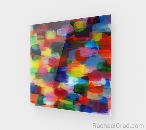 Dot Series Wall Art 8 Multicolor-Acrylic Print-rachaelgrad artsy abstract colorful artwork multicolor wall art