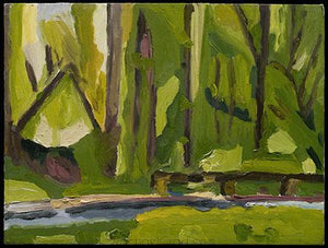 Rock Creek Park, Oil on Canvas Painting, 2005 Rachael Grad Art Artist