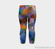 Load image into Gallery viewer, Dot Series Leggings 1 Abstract Brushstrokes Babies-Baby Leggings-rachaelgrad-rachaelgrad artsy gifts colorful artwork multicolor