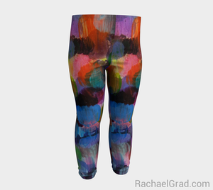 Dot Series Leggings 1 Abstract Brushstrokes Babies-Baby Leggings-rachaelgrad-rachaelgrad artsy gifts colorful artwork multicolor