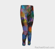 Load image into Gallery viewer, Dot Series Leggings 1 Abstract Kids-Youth Leggings-rachaelgrad-rachaelgrad artsy gifts colorful artwork multicolor