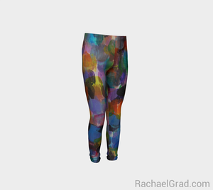 Dot Series Leggings 1 Abstract Kids-Youth Leggings-rachaelgrad-rachaelgrad artsy gifts colorful artwork multicolor