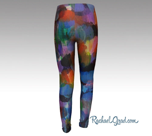 Kids Leggings | Girls Tights | Teenage Girl Gift | Children Clothes | Colorful Art Leggings for Kids | Tweens Girl Clothing | Girl Clothes Rachael Grad Art