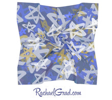 Load image into Gallery viewer, Silk Art Scarf - Square, Stars Art-Square Scarf-Canadian Artist Rachael Grad