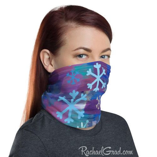 Face Mask - Snowflakes, Full Coverage-Canadian Artist Rachael Grad