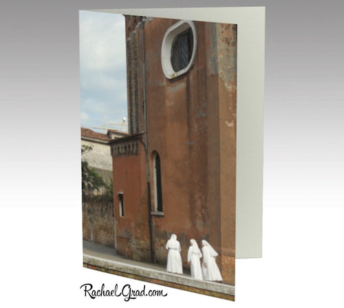 Stationery Card Set - 3 Nuns, Venice, Italy-Stationery Card-Canadian Artist Rachael Grad