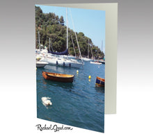 Load image into Gallery viewer, Stationery Card Set - Dog Swimming, Rapallo, Italy-Stationery Card-Canadian Artist Rachael Grad
