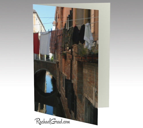 Stationery Card Set - Laundry Lines in Venice, Italy-Stationery Card-Canadian Artist Rachael Grad