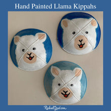 Load image into Gallery viewer, Hand Painted Lllama Kippah Alpaca Yarmulka Art by Artist Rachael Grad