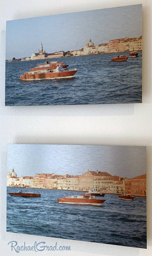 Basilica & Boats in Redentore Venice Italy Artwork Set by Artist Rachael Grad side view