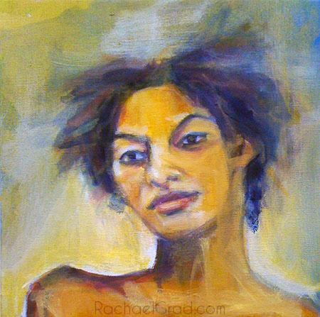 Warm Portrait of P, Oil on Linen Painting, 2010 Rachael Grad Art Artist