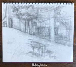 Wychwood Park Pencil Drawing-Original Art-Canadian Artist Rachael Grad