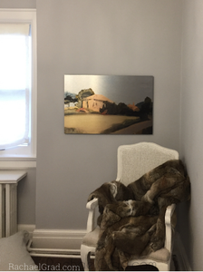 Yellow House, Provence, France Artwork in a Toronto Home by artist rachael grad