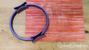 yoga mat by Canadian artist Rachael Grad for pilates on demand with pilates circle