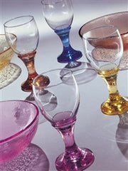Recycled Glass Goblet - Assorted Colors - The Prince's Table  - 2