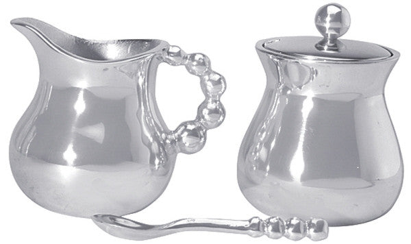 Pearled Creamer & Sugar Set - The Prince's Table