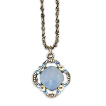Air Blue Opal Cushion Pendant