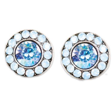 Light Air Blue Stud Earrings