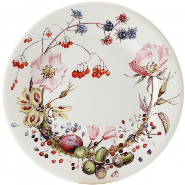 Bouquet Floral Large Dessert Plate - The Prince's Table  - 1