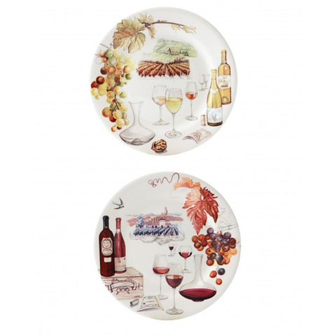 Bouquet Dessert Plate - Red/White
