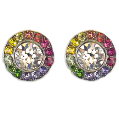 Multi Colored Stud Earrings