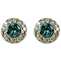 Emerald Erinite Stud Earrings