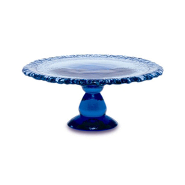 Recycled Glass Cake Platter - Assorted Colors - The Prince's Table  - 1