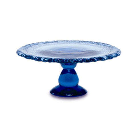 Recycled Glass Cake Platter - Assorted Colors