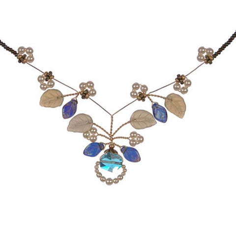 Indian Sapphire Tendril Necklace