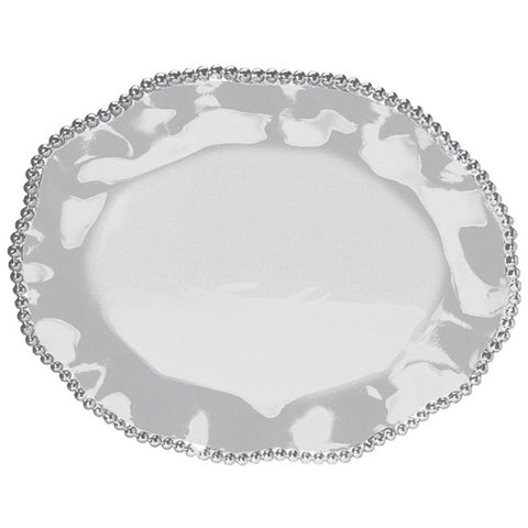 Pearled Wavy Oval Platter