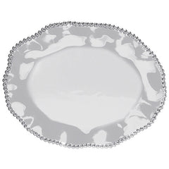 Pearled Wavy Oval Platter - The Prince's Table  - 1