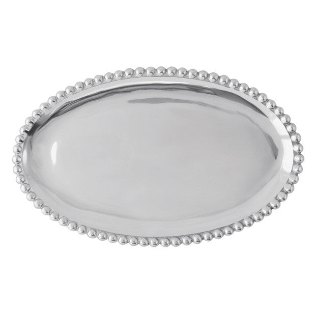 Small Pearled Oval Platter - The Prince's Table