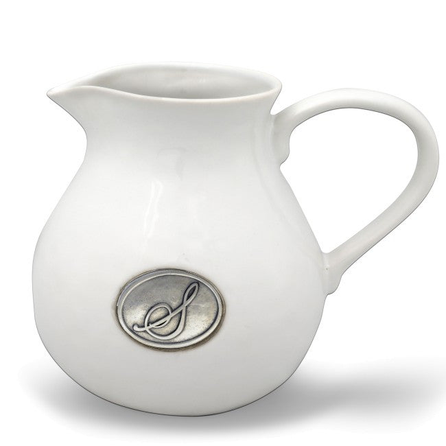 Monogram Stoneware Pitcher - The Prince's Table