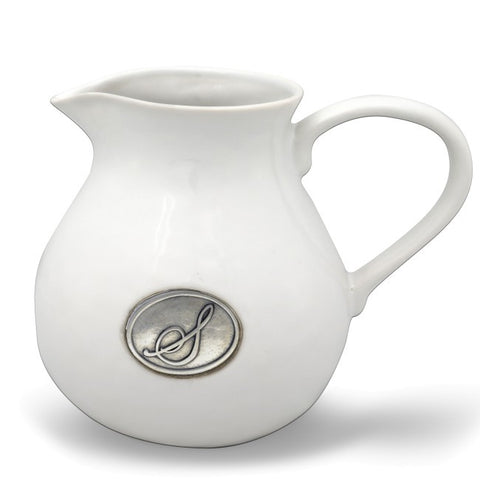 Monogram Stoneware Pitcher