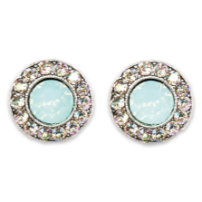 Luminous Pacific Opal Stud Earrings