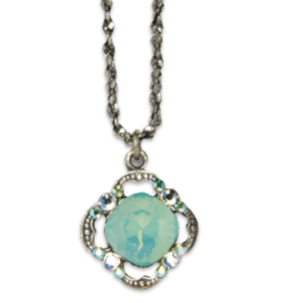 Pacific Opal Cushion Pendant