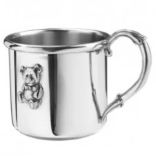 Baby Cup with Embossed Teddy Bear
