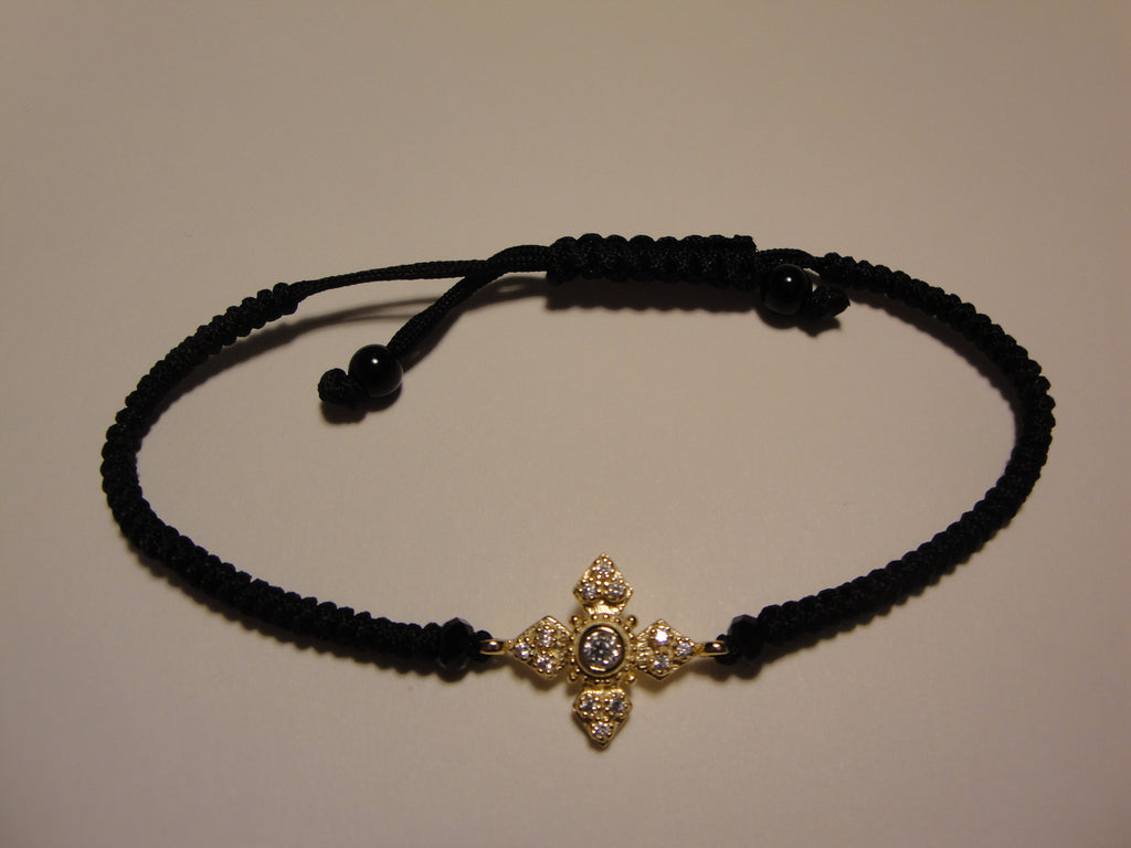 Peace Bracelet - Gold Pointed Maltese Cross - The Prince's Table  - 1