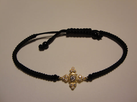 Peace Bracelet - Gold Pointed Maltese Cross