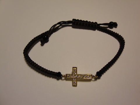Peace Bracelet - Gold Cross